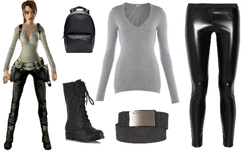Quick and easy Lara Croft biker costume from Tomb Raider Legend