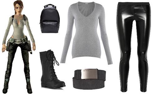 Quick and easy Lara Croft biker costume from Tomb Raider Legend