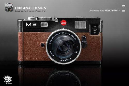 オリジナル デザイン 3D カメラ iPhone ケース for iPhone4 / iPhone4S (ブラック・ブラウン) 6A (全12種)