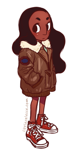 I looooved Connie's over-sized bomber jacket