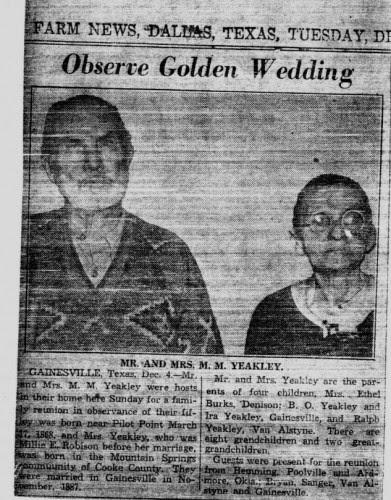 Morgan Melendez and Mille Robison golden wedding anniversary