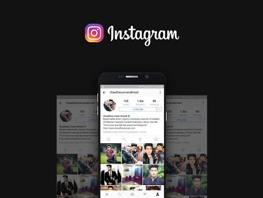 Instagram User Profile Mockup Free PSD Download - Download PSD