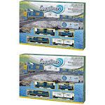 Bachmann Trains Coastliner Ready-To-Run Freight Train Set, HO Scale (2 Pack) by VM Express