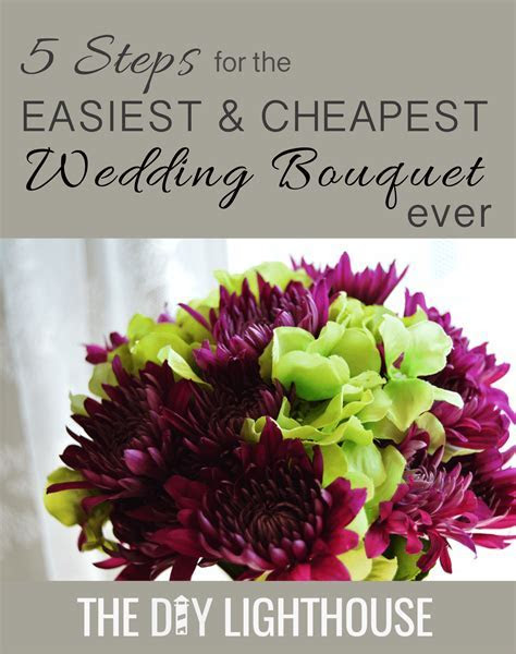How to Make an Easy and Cheap DIY Wedding Bouquet