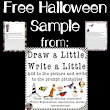 Halloween Writing: Draw a Little, Write a Little FREE SAMPLE