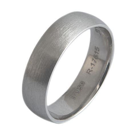 6mm Brushed Finish Comfort Fit Platinum Wedding Band for