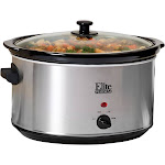 Elite Platinum MST-900V Steel Slow Cooker - 8.5 qt - Brushed Stainless Steel