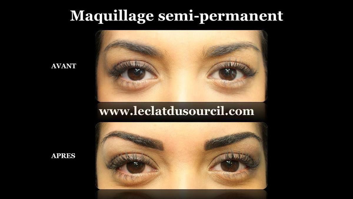 Maquillage Semi Permanent Des Sourcils à Leclat Du Sourcil