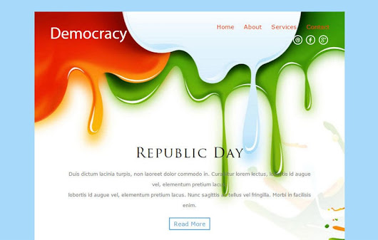 Democracy a Newsletter Responsive Web Template - w3layouts.com