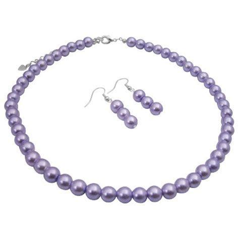 Bridal Bridesmaid Cheap Jewelry Set Victorian Lilac