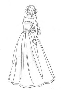 barbie coloring pages for kids at getdrawings  free download