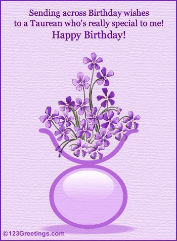 B'day Wishes For A Taurean  Free Zodiac eCards, Greeting
