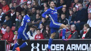 Eden Hazard celebrates his strike against Southampton.