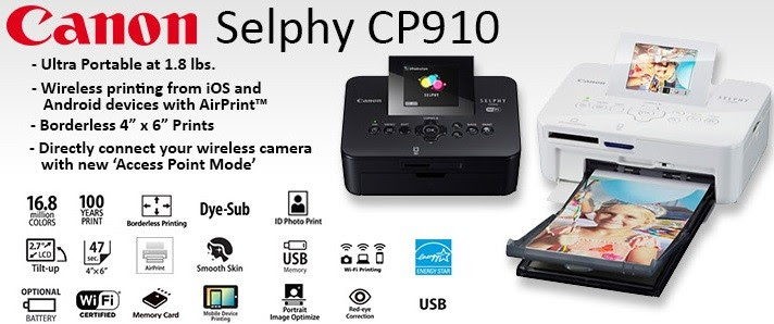 Canon Selphy Cp910 Portable Wireless Color Photo Printer Dubai Abu