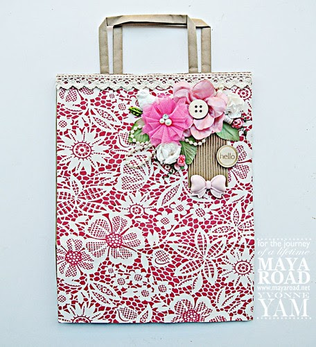 do more with less  a decorated paper bag for maya road