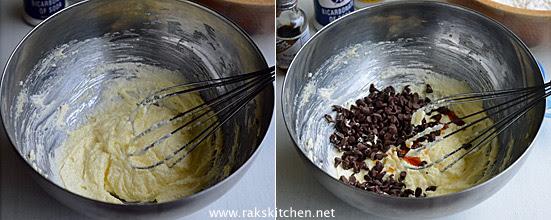 Eggless chocolate chip cookies step 2