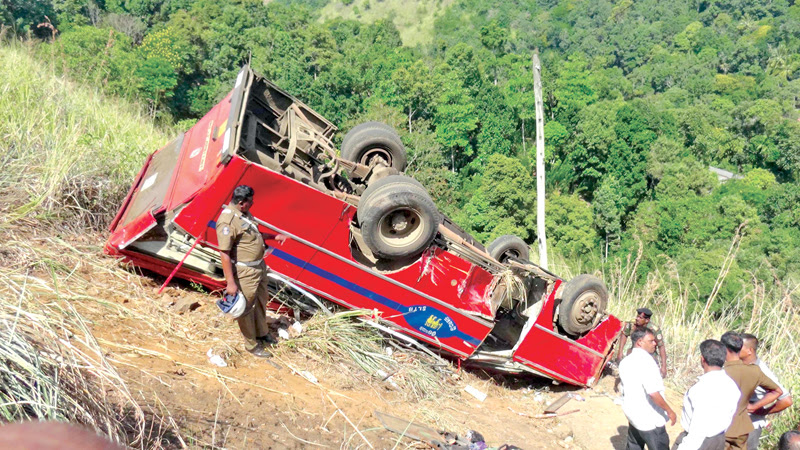 One killed, 34 injured as bus plunges into ravine