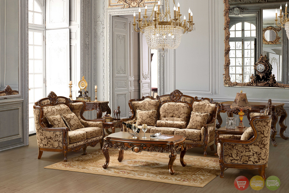 Luxurious Chenille Sofa and Loveseat Set HD-839