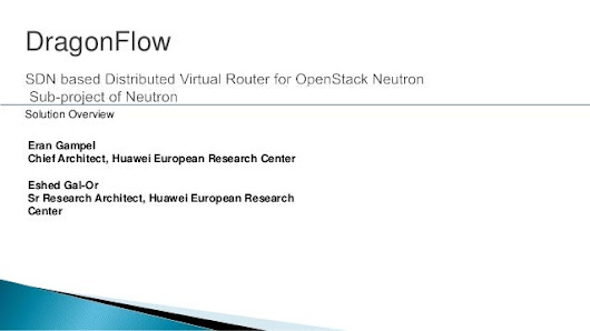 DragonFlow sdn based distributed virtual router for openstack neutron