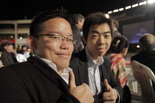 Me with Lu Yang (KNN Audience Award winner for MY SPECTACULAR THEATER)