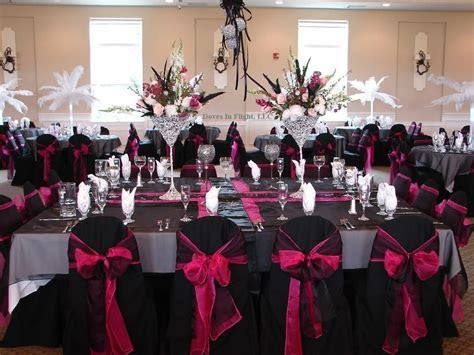 Pink Black and White Wedding   Ideas for Black/Hot Pink