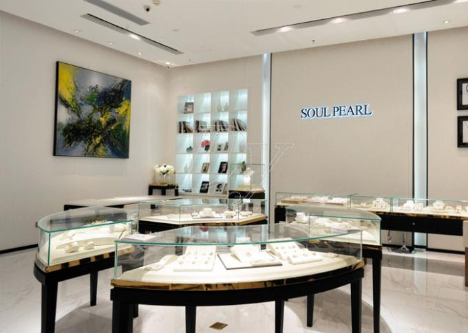 Oem Showroom Display Cases Fashion Jewellery Shop Interior Design