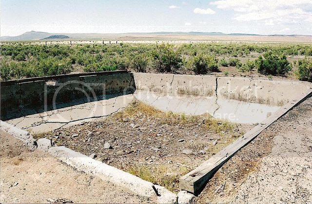 Abandoned foundation in Kelton, Utah