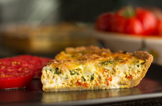 New Mexico Green Chile Quiche with Pinon Crust from MJ's Kitchen