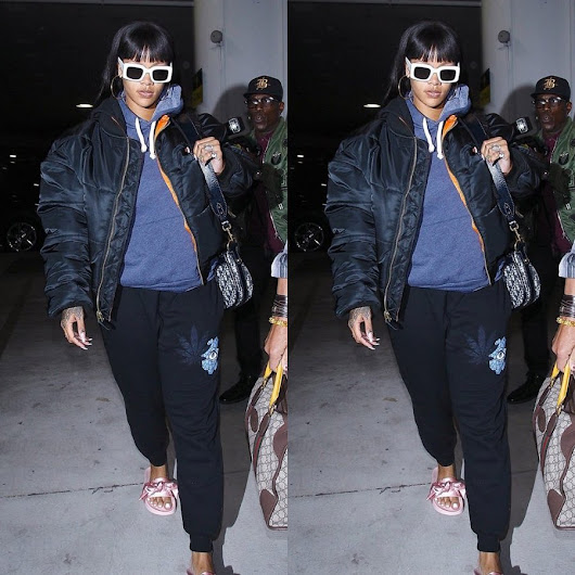Rihanna Spotted in Vetements, Jacquie Aiche at LAX - Haus of Rihanna