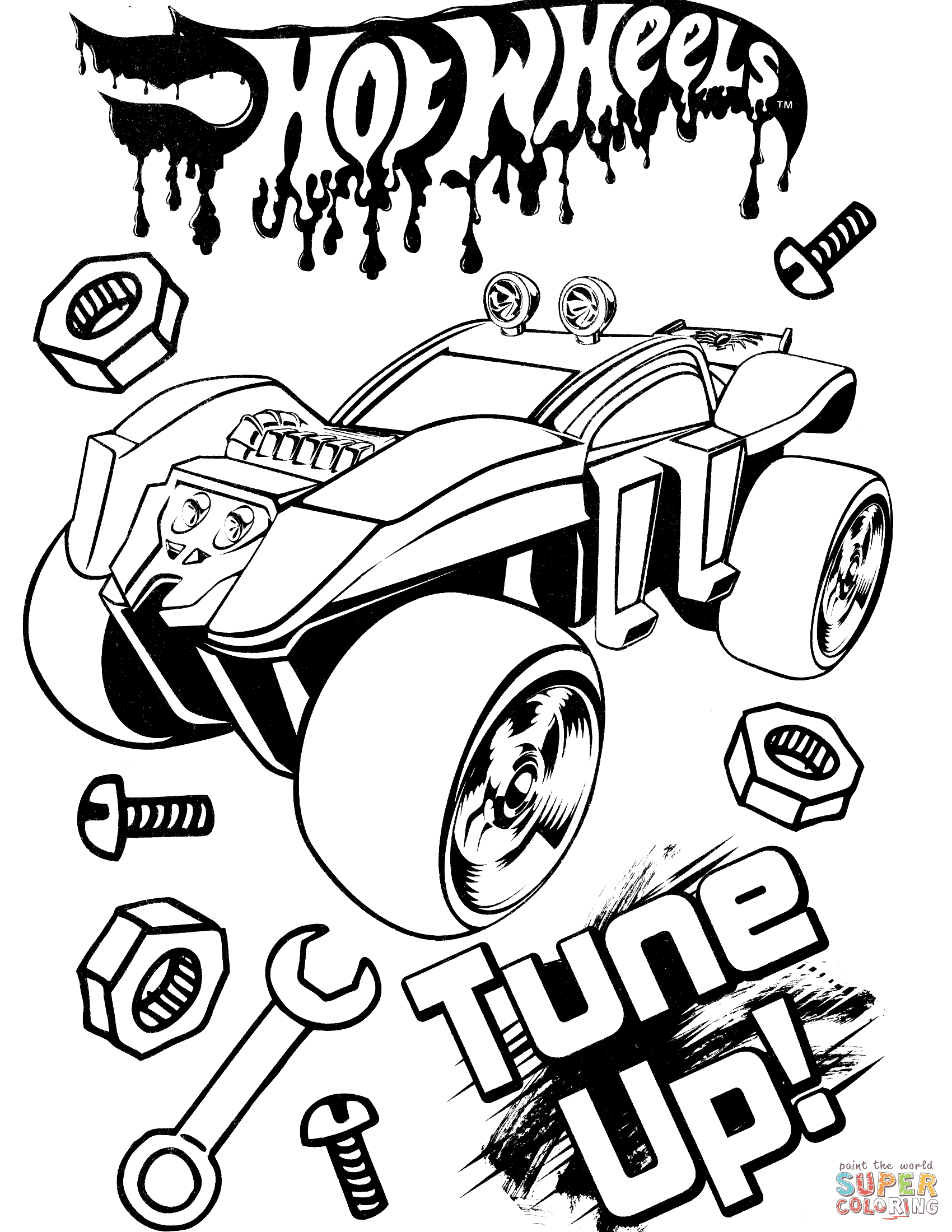 Hot Wheels Coloring Pages Free Coloring Pages