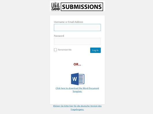 Legal 500 Rolls Out Online Submission System – Pearson Communications