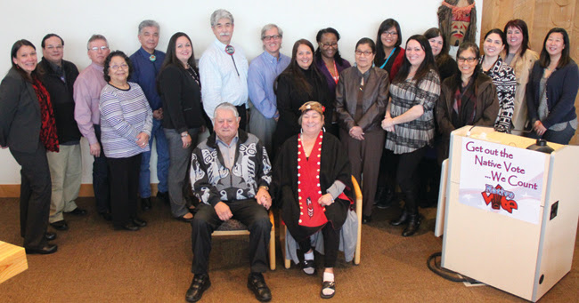 Representatives from the Tulalip Tribes, the Washington State Department of Social and Health Services and the Children's Administration signed the official agreement on January 13, 2016.Photo/Micheal Rios