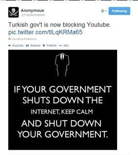 Turchia, Erdogan blocca anche YouTube