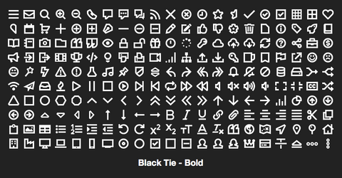 Black Tie, from the creator of Font Awesome