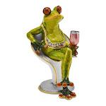 Bejeweled Vino Frog Trinket Box with Charm Pendant - BJ2014