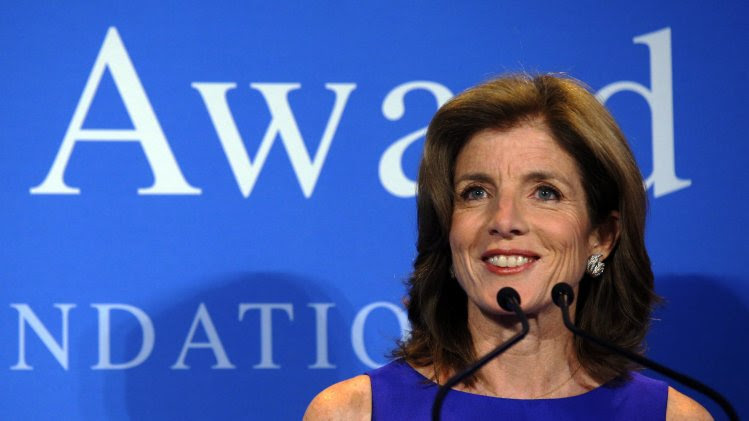 Caroline Kennedy speaks at the 2013 John F. Kennedy Profile in Courage Award ceremony in Boston