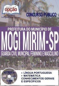 apostila concurso Prefeitura de Mogi Mirim GUARDA CIVIL MUNICIPAL FEMININO E MASCULINO.