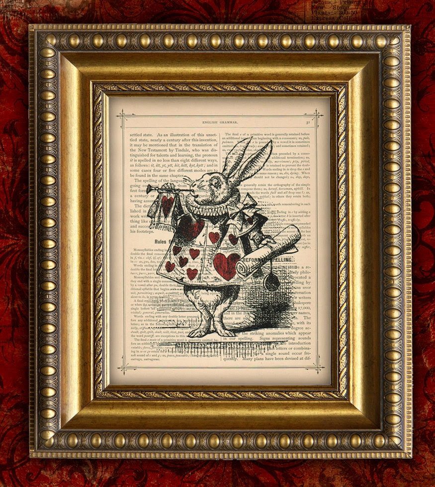 White Rabbit ALICE In WONDERLAND Home Decor Wall by EncorePrints