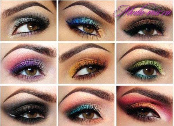 Свадебный макияж для карих глаз (фото красивый и нежный)