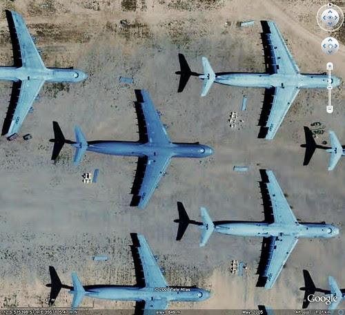 Aviones Galaxy en  AMARG USA