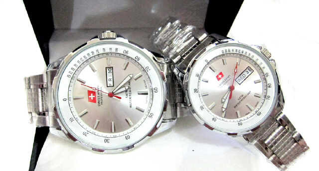 Jam Tangan Swiss Army Couple Warna Putih