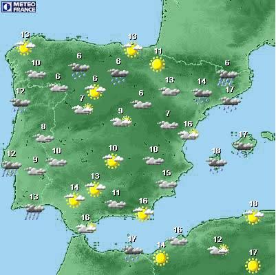 Carte Espagne Meteo.Carte Meteo Espagne Carte