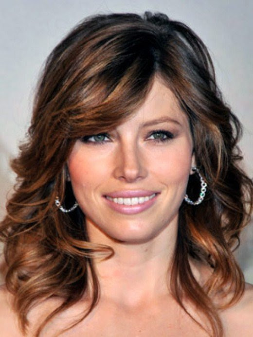 Celebrity Hairstyle Brown Hair With Blue Highlights