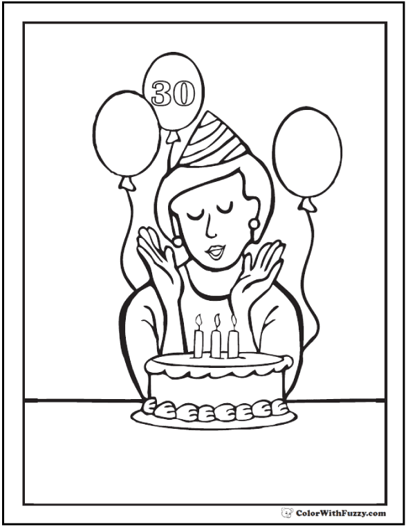 Search results for Happy birthday coloring pages on ...