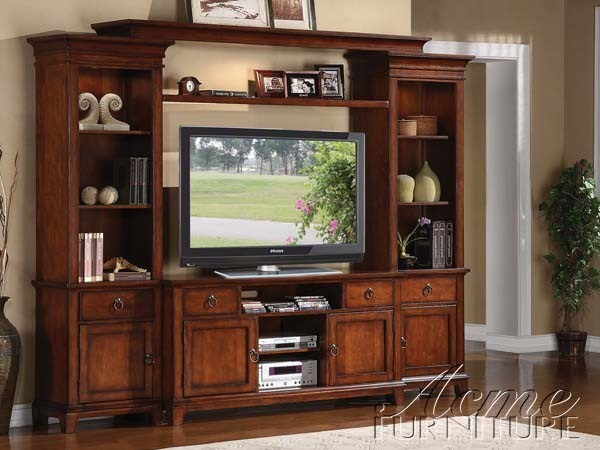 Acme Furniture - Lavonne Oak TV Console in Cherry - 91028