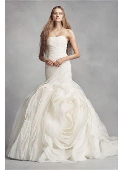 White by Vera Wang Bias Tier Trumpet Wedding Dress   David