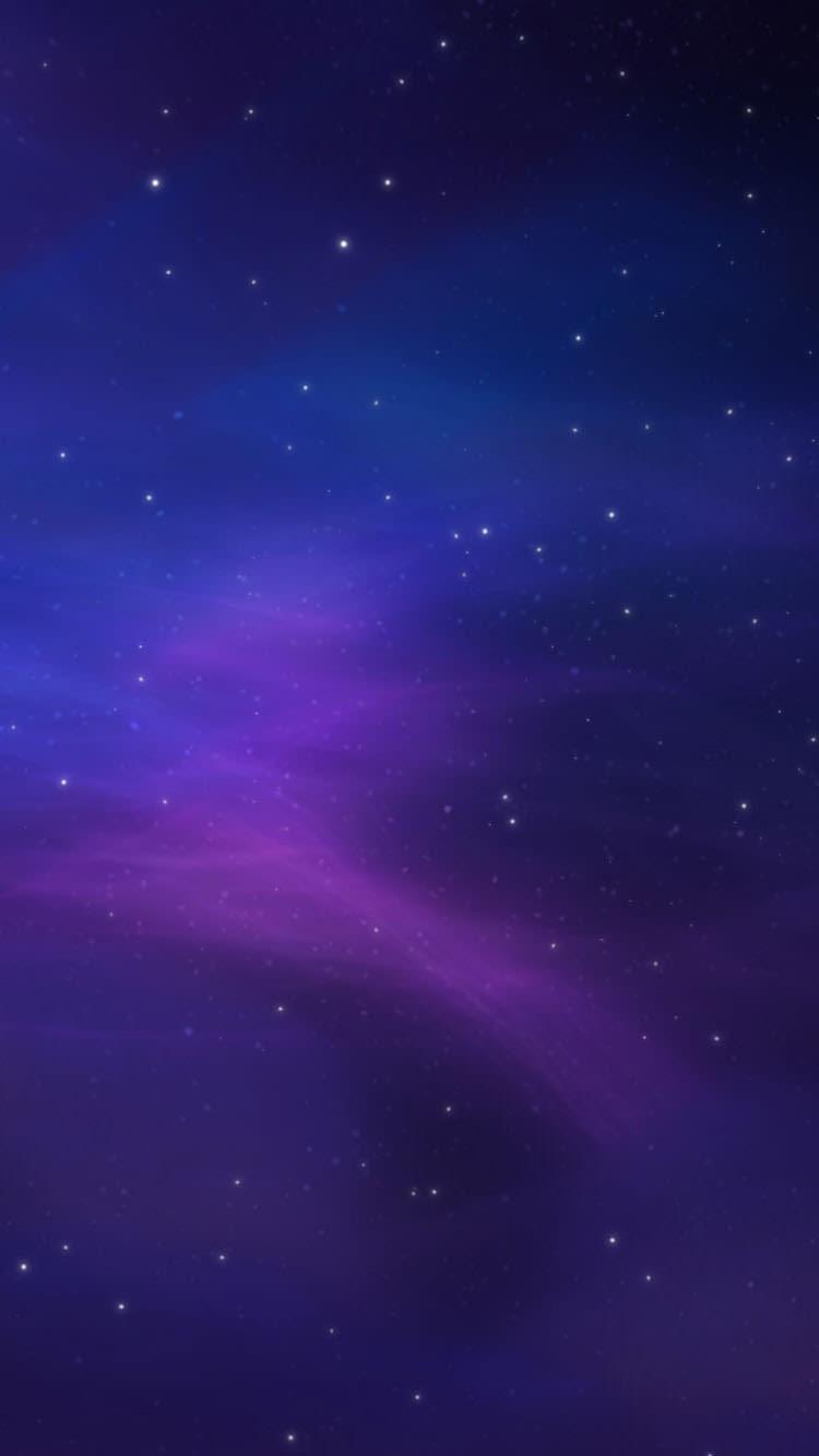 紫の夜空 Iphone6 壁紙 Wallpaperbox