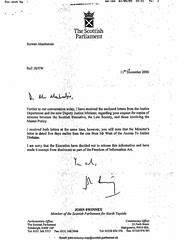 John Swinney to Stewart MacKenzie Master Policy Minutes response apology