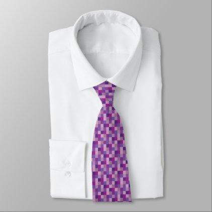 Purple Pixelated Pattern | Gamer Neck Tie
