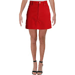Levi's Womens Velvet Above Knee Pencil Skirt Red